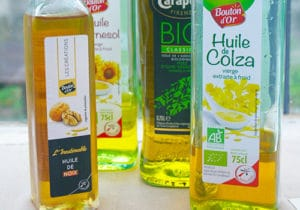 Bouteilles de différentes huiles