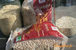santé et céréales en grain