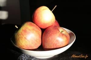 Corbeille de pommes et nutrition
