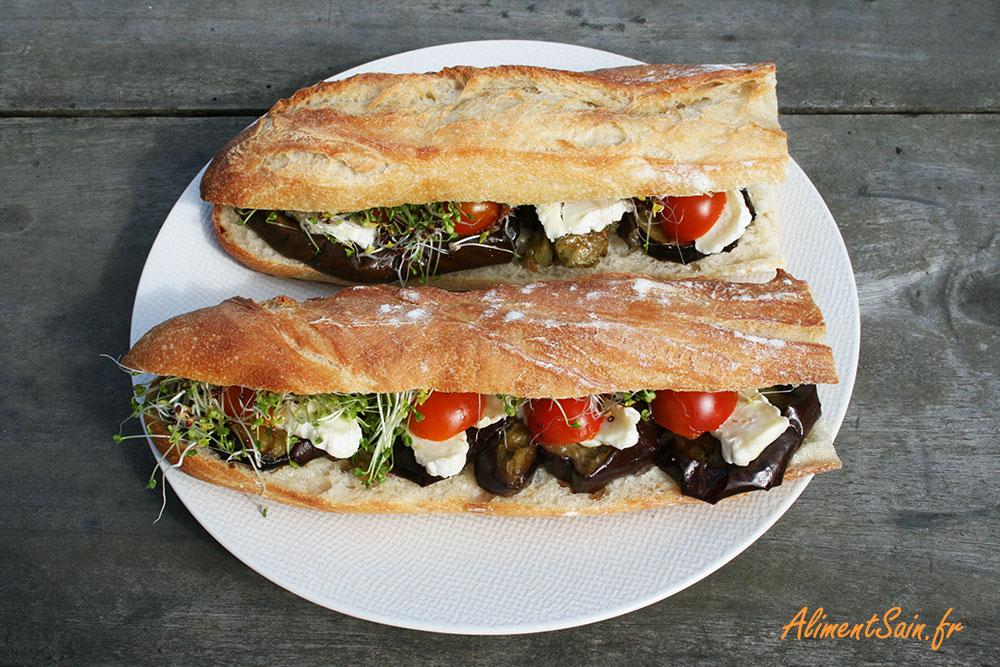 Sandwich aux aubergines