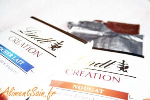 Tablettes de chocolat de dégustation