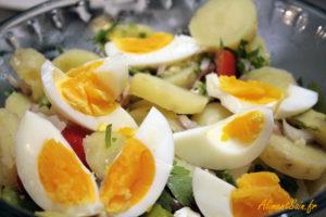 Recette de la salade  de fève aux oméga-3