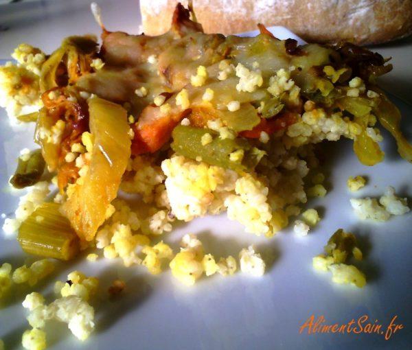 gratin au millet et aux légumes