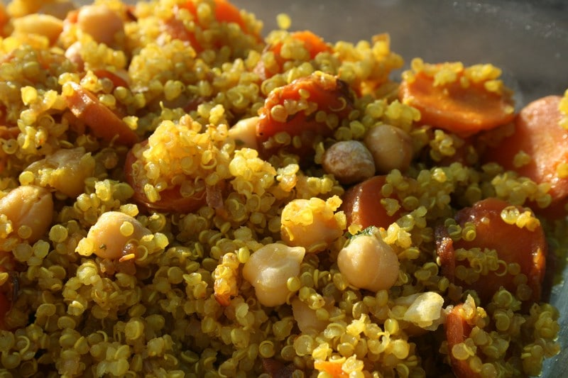 quinoa et carotte