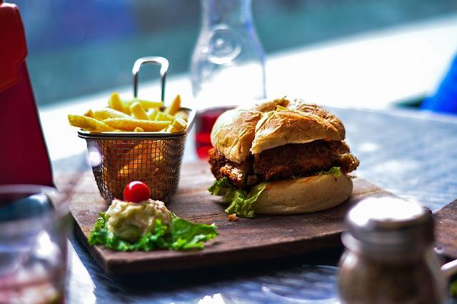 Hamburger et mauvaise alimentation