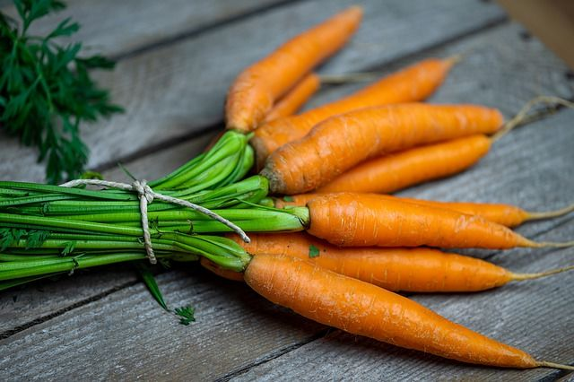 Les carottes, source de vitamine A