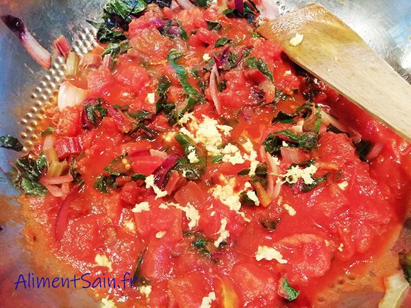 tomate et pois-chiche