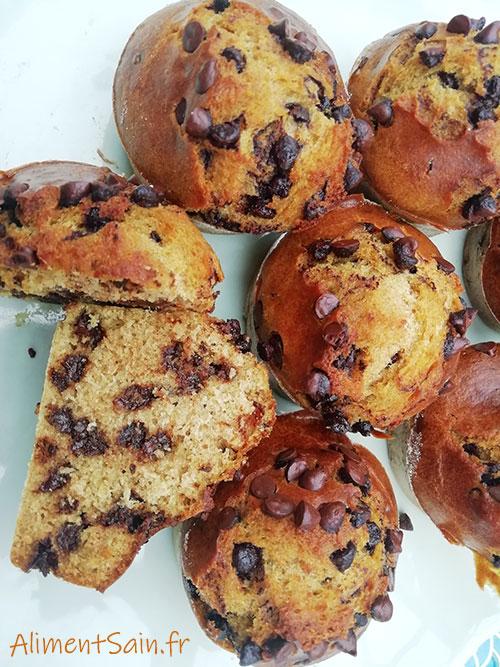 Recettes de muffins aux pépites de chocolat